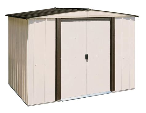 kmart metal storage sheds arrow nw86 a 8 x 6 newburgh shed in brown and