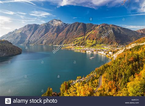 Lake Lucerne Switzerland Brunnen Stock Photos And Lake
