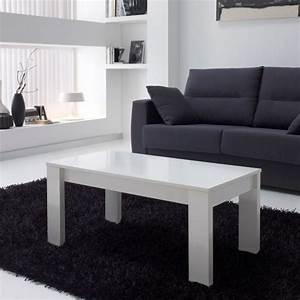 Table Relevable Blanche : table basse relevable blanche rectangulaire mobilier ~ Teatrodelosmanantiales.com Idées de Décoration
