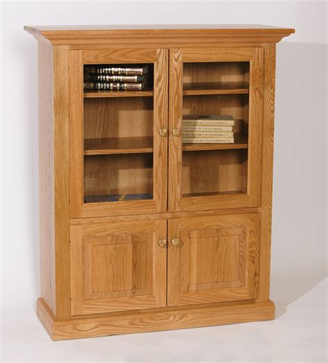 solid oak bookcases in seven sizes wood bookcases with glass doors elegant cherry wood