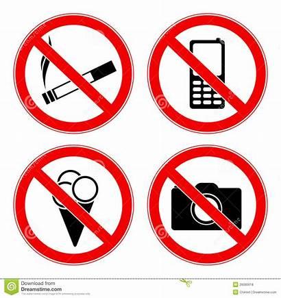 Signs Prohibited Verbotene Zeichen