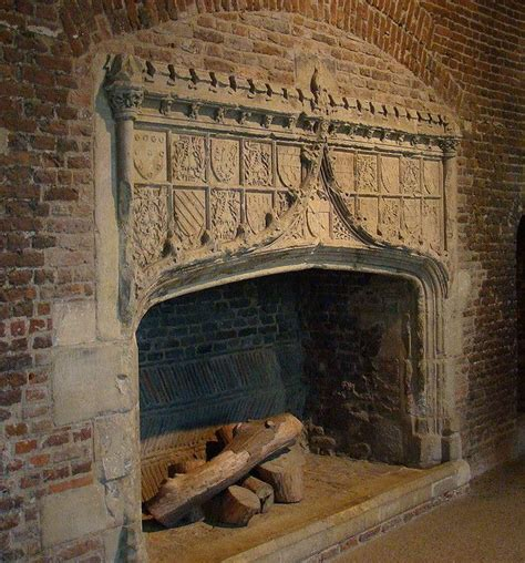 awesome tattershall castle fireplaces crackling fire