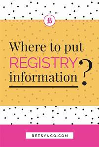 Where to put wedding registry information betsy n co for Wedding invitation include registry