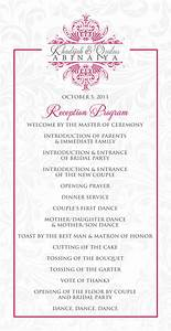 sample of wedding programme wedding reception program outline agenda wedding