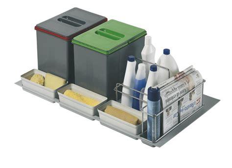 poubelle cuisine tri selectif 3 bacs poubelle de cuisine pour tiroir a tri sélectif