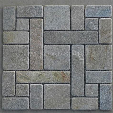 slate mosaic slate mosaics in french pattern westone