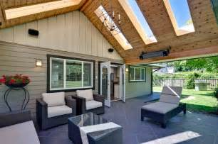 Covered Patio Bar Ideas by Skylight Roof Covered Patio Traditional Patio