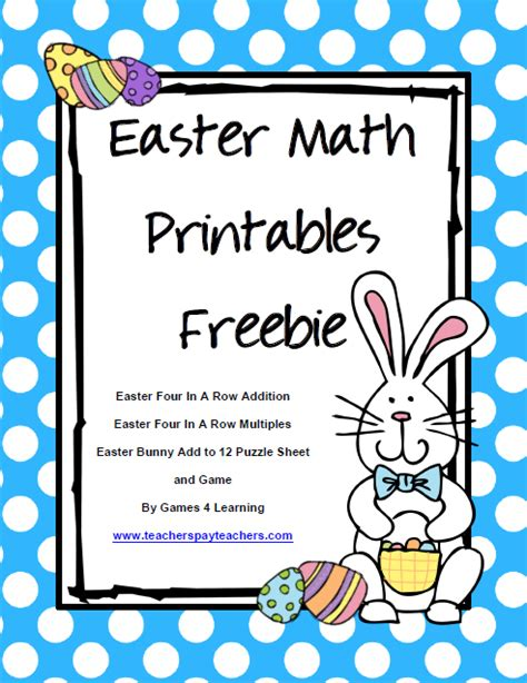 4 learning easter math freebies happy easter