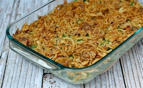 green bean casserole recipe   canned soup rachel