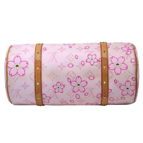 louis vuitton papillon monogram cherry blossom pink satchel  sale  stdibs