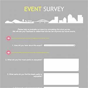 does free website make money event survey template word With event survey template word