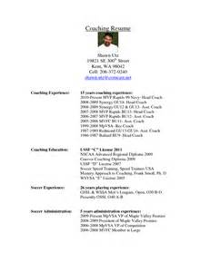 soccer resume for college soccer coach resume