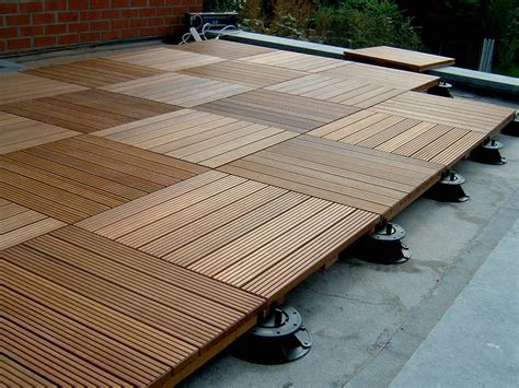 ipe decking tiles for elevated decks and rooftop decks