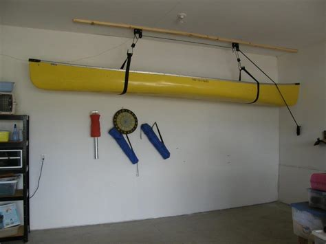 closets for life canoe hoist for your garage up up and
