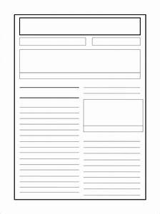 Newspaper template blank the best resume for Free printable newspaper template for students