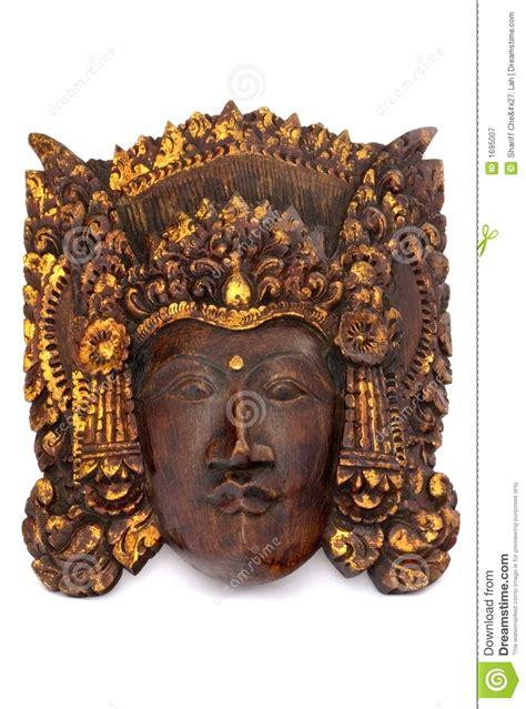 indonesian wooden mask stock image image  effigy