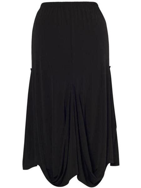 drape nj black drape jersey skirt chesca