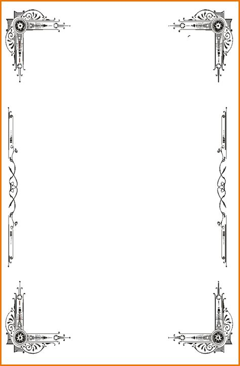 Halloween Border Clip Art by Word Document Border Templates Free Pacq Co