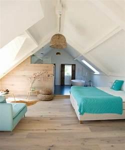 idee decoration salle de bain deco chambre mansardee With deco chambre sous comble