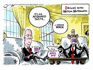 Obama cartoon Mitch McConnell Tea Party Koch Political and ...