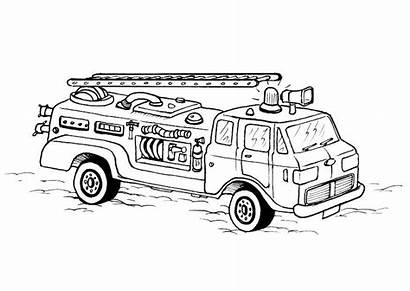 Coloring Fire Pages Truck Trucks Printable