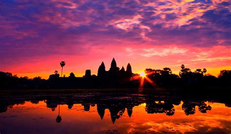 The First Sunrise Of The Year At Angkor Wat A Magical