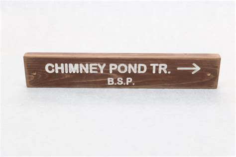 Maybe you would like to learn more about one of these? Chimney Pond Baxter State Park Trail Sign   http://www ...