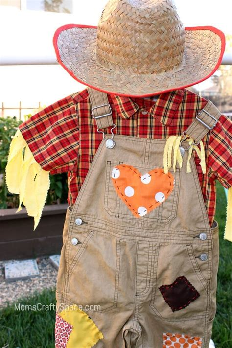 diy toddler scarecrow costume  rit dye happiness