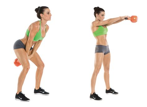 kettlebell swing swings exercise workout exercises benefits kettlebells fat cardio belly moves weight health lose squat butt basics american female