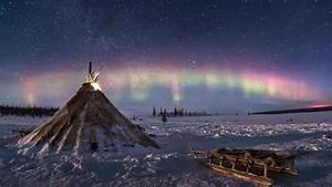 Polar Lights In Tundra HD Wallpaper Wallpaper Studio 10
