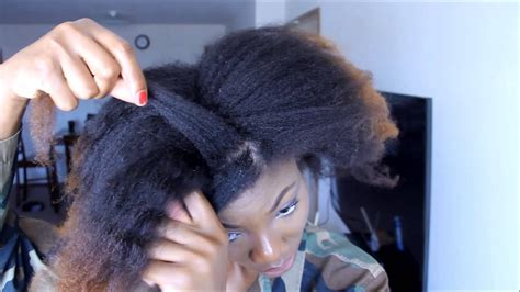 two simple protective hairstyles for stretched natural