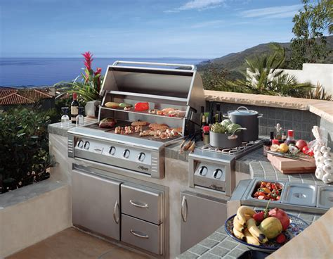 outdoor grilling custom alfresco stone barbecue island and grilling equipment galaxy outdoor