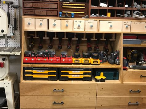 Garage Organization Workshop Tools by Cordless Tool Station Storage Ideas For Shop Garage