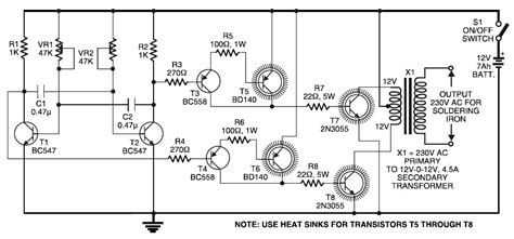 12v to 220v inverter circuit diagram with 2n3055 hp photosmart printer
