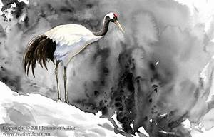 Red-Crowned Crane by Nambroth on DeviantArt