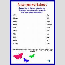 Free Printable  Antonym Worksheets