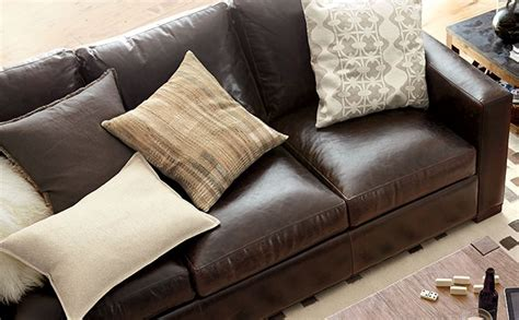 what to look for in a leather sofa tips for buying leather furniture crate and barrel
