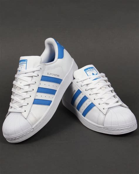 Adidas Superstar Trainers White/Ray Blue,originals,,shell ...