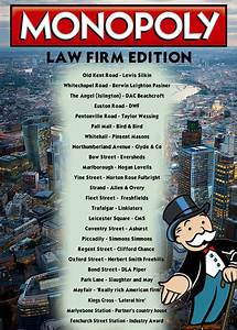 There Is A City Law Firm Version Of Monopoly
