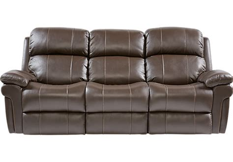 trevino chocolate leather power reclining sofa contemporary