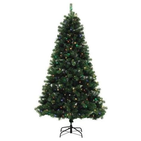 sylvania 7 led christmas tree clear lights aspen pine ebay