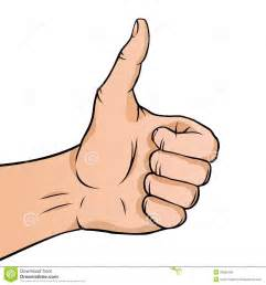 Cartoon Hand Thumbs Up