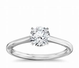 petite solitaire engagement ring in 14k white gold blue nile With wedding ring white gold