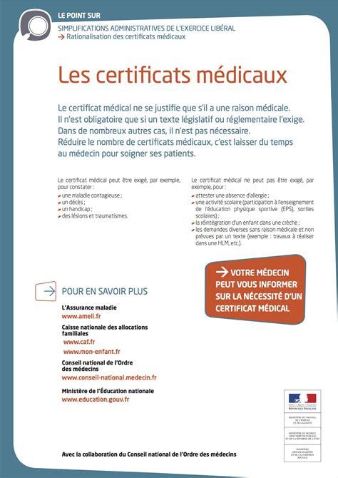 assurance chambre certificats medicaux conseil départemental du