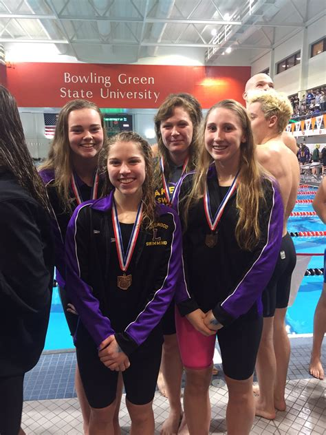 swim team sets school records reis qualifies state lakewood