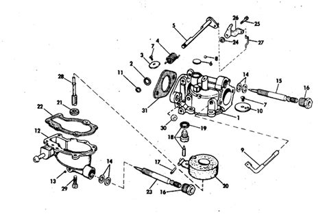 carburetor parts   hp rs outboard motor