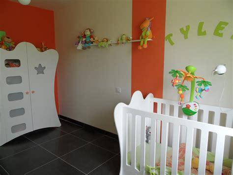 chambre bébé orange chambre bebe jaune et vert