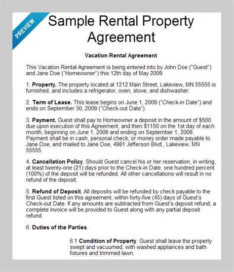 rental agreement templates docs