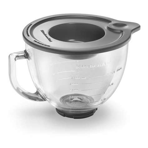 lid kitchenaid bowl glass dishwasher safe spout food mixer mixing stand kitchen aid qt pour quart go pouring clear cooking