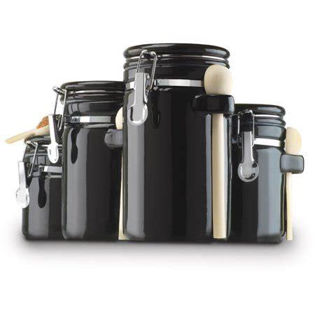 kitchen canister sets walmart anchor hocking 4 ceramic canister set black